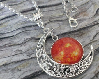 Crescent Moon & Sun necklace and pendant