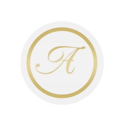 gold monogram stickers envelope seals pack of 25 With monogram letter seals