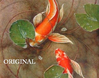 2 Koi... ~Counted~ Cross Stitch Pattern ~Computer Generated~ Oriental Fish