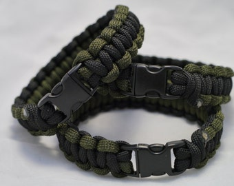 550 Paracord Survival Bracelet Cobra Weave - 9""