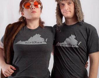 virginia tshirt, virginia graphic t, state pride tshirt, unisex, neutral, silkscreened tshirt, witty tshirt, men's gift, free ship