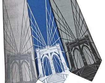 Brooklyn Bridge Silk Tie