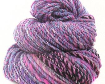 handdyed handspun superwash Merino wool tencel yarn