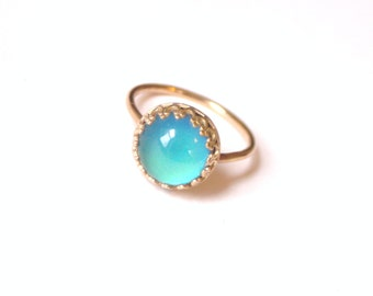 Mood Ring, 14kt Gold Crown