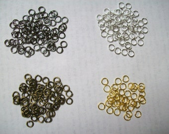 US Shipper - 5 mm Jump Rings - Gold - Silver, Black or Gunmetal and Antique Bronze Plated - Your Choice: 25 - 400