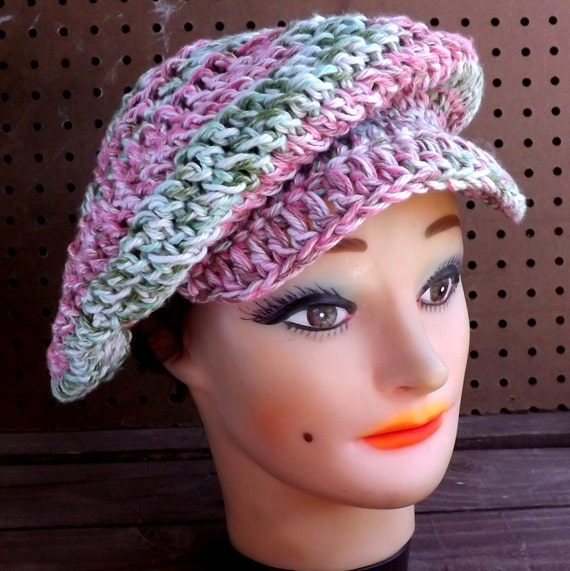 ANNIE Crochet Newsboy Hat Pattern, Womens Crochet Hat Pattern, Brimmed ...