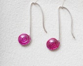 Colored Eighth Notes Earrings, Sterling Silver