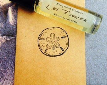 Lei Flower Perfume Oil, Plumeria, Hawaii,Suntan,Vacation,Destination wedding,Bath and Beauty,shower Favors,Beach Wedding,Roll on Perfume Oil