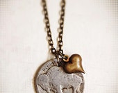 Buffalo Nickel Bison Coin Heart Charm Necklace, Buffalovers, Indian Head, Colorado, Valentine's Day, Love, Sweetheart, Great Lakes
