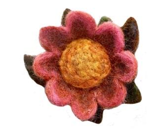 Flower Needle Felting Kit: Flower Brooch DIY Flower, Cookie Cutters, gift wool flower felting tutorial wool craft Easter Lily brooch, Spring