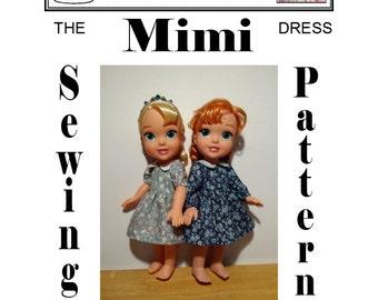 Dress Sewing Pattern for Disney Princess Toddler Doll