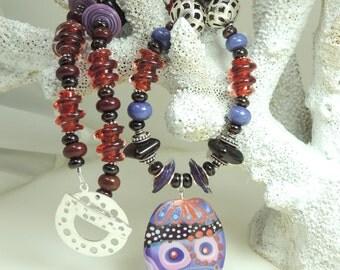 JANUARY LOVE Handmade Lampwork Bead Necklace