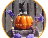 Halloween Pose-Able Wired Pumpkin Arms & Legs Decoration Digital PDF Croceht Pattern
