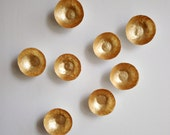 Collection of 8 Small Gold Paper Bowls