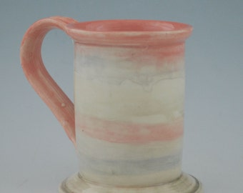 Colorful Red Purple Yellow and Green Pastel Pottery Mug