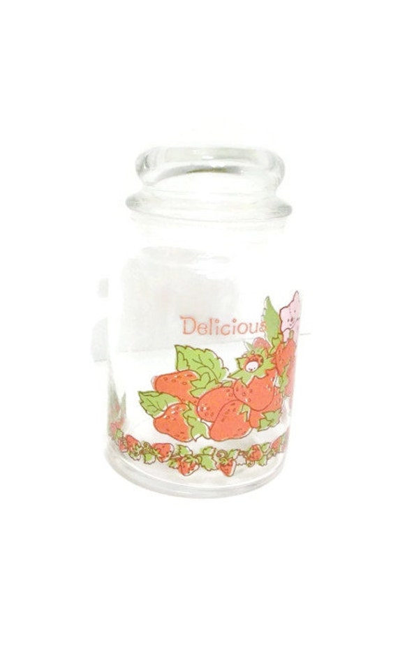 Strawberry Shortcake Vintage 1980  mall Glass Canister