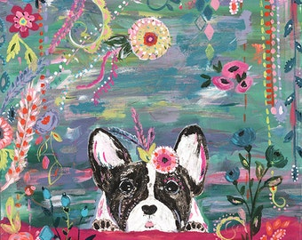 "French Bull Dog II Art Print 12"" x 12"""