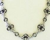 Byzantine Diamonds Chainmaille Necklace Handmade