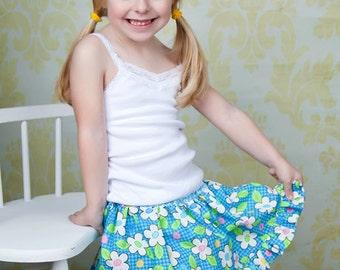 Twirl Skirt Pattern optional Built In Bloomers PDF Sewing Pattern Girls 2 through 8