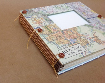 Las Vegas Wedding Photo Album Guest Book of Your City Map - Personalized and Custom Made for You