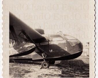 Vintage Snapshot of a Water Sea Plane Circa 1950s Great Vernacular Snapshot of an Airplane, Sea Plane, Water Plane, Air Craft