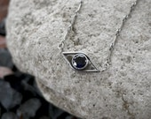 Sapphire Evil Eye Necklace - Ps Artisan Jewelry