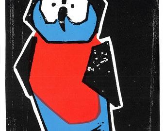 Night Owl Screen Print by Print Mafia