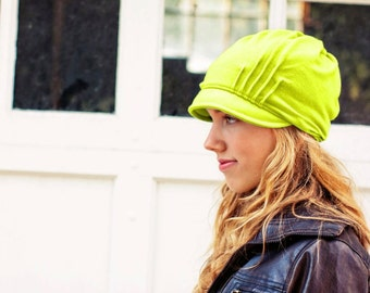 Slouch Hat - Neon Lime - Merino