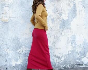 ORGANIC Pencil Long Fleece Skirt (hemp/organic cotton fleece) - organic skirt