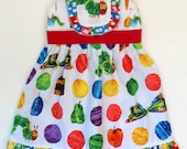 Toddler Dress, Very Hungry Caterpillar Dress, 1st Birthday dress, Girls dress, Baby dress, party dress, spring dress,