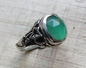 The Ivy Ring in Green Onyx and Sterling