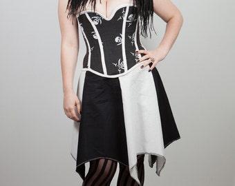 SALE Skulls n' Leather Pirate Corset, Custom Size
