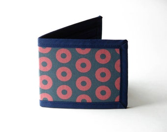 Donuts Billfold Wallet - Navy Interior