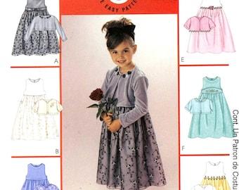 Flowergirl dress and cardigan pattern McCalls 3874 sewing pattern Wedding flowergirl pattern Sz 4 to 6