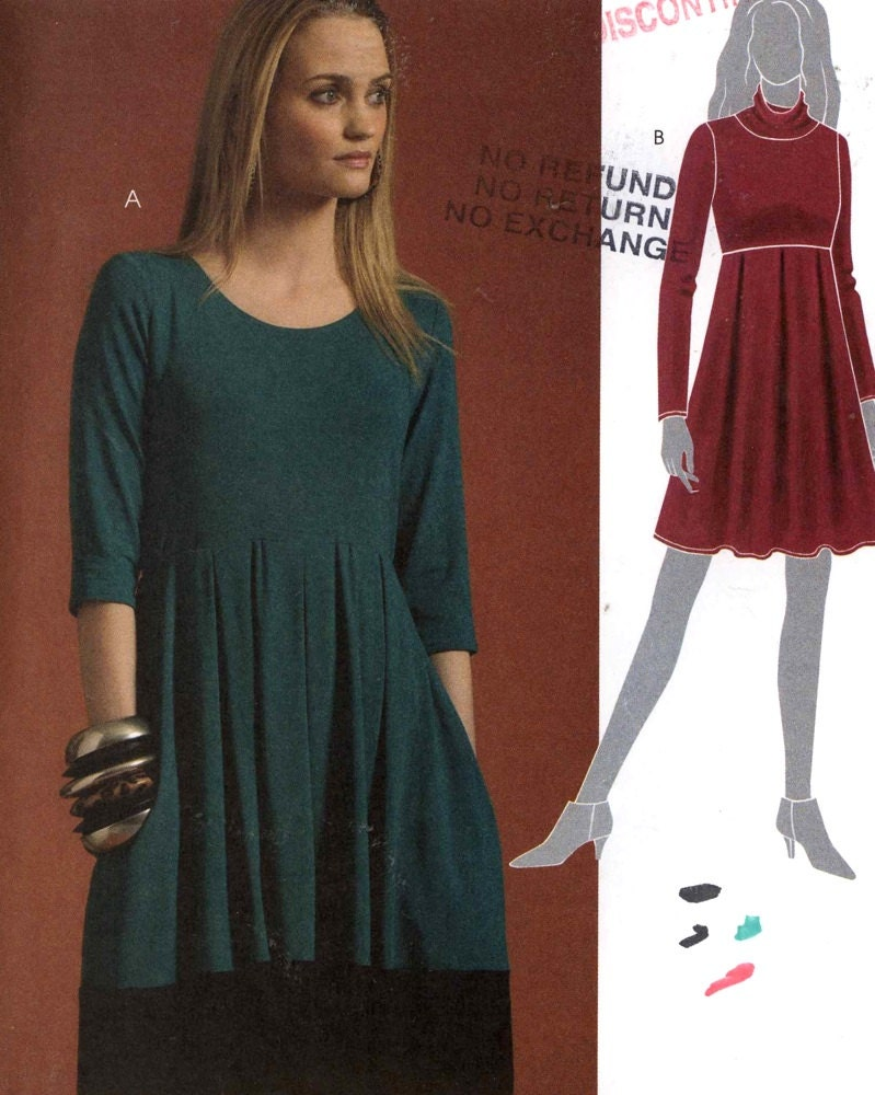 Knit Dress Sewing Pattern : Knit dress pattern Casual chic dress sewing pattern Simplicity