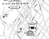 Mount Airy Hand-Drawn Map Philadelphia 8x10