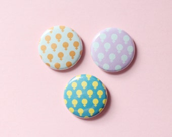 Venus Pattern One Inch Button Choose Your Color