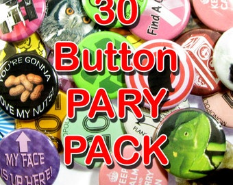 Pinback Button 30 party pack
