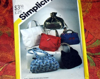 UNCUT Vintage Simplicity 5476 Pattern, 6 Styles of Purses/Bags