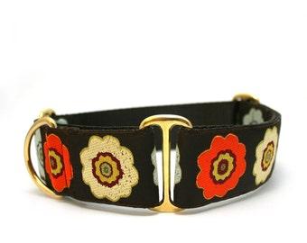 "1.5"" Dog Collar Primrose buckle or martingale collar"
