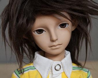 Brown doll wig SIZE CHOICE faux fur wig BJD