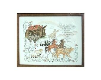 Noah An Eternal Promise Counted Cross Stitch Kit - Stoney Creek Collection - 1980s Janlynn 80-42