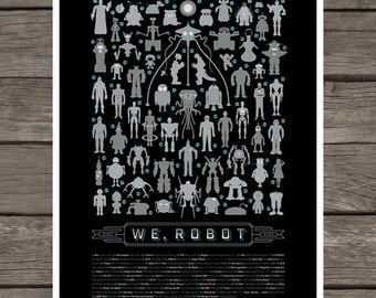 weRobot Print with 65 Celebrity Robots