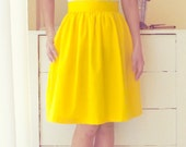 Fullly lined skirt with pockets - custom size, length, color for your everyday look / holiday / party / bridesmaids in yellow, red, lavender