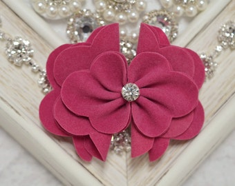 New! 2pcs Handmade Suede flowers--french rose (SD101)