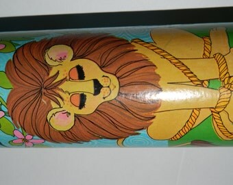 1960's The Lion and the Mouse Puzzle in a Tube, Jigsaw Puzzle 54 Pieces, Le Lion et la Souris, Made in Canada