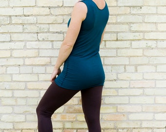 Onyx ~ Simple Long Tank Top ~ Bamboo & Organic Cotton ~ Made to Order