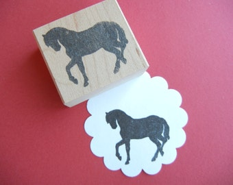 Horse Stallion Silhouette Rubber Stamp - by BlossomStamps