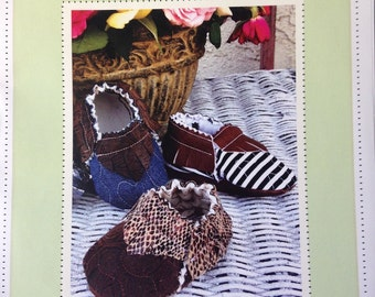 PDF Pattern NEW!! Quilted Baby Shoe Moccasin  Adorable and Fun to make- Instant Download
