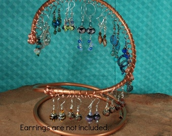 Copper Earring Holder, Earring Display, Jewelry Display J400 by CC Design